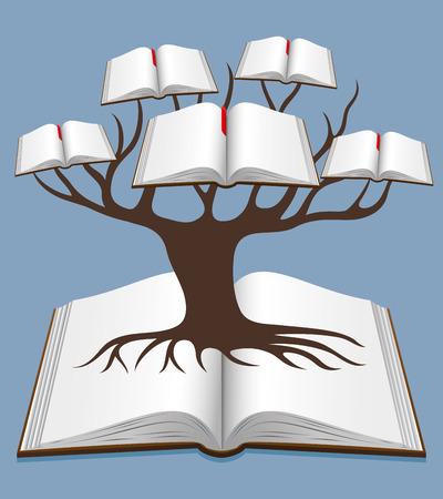 Tree of knowledge. 向量圖像