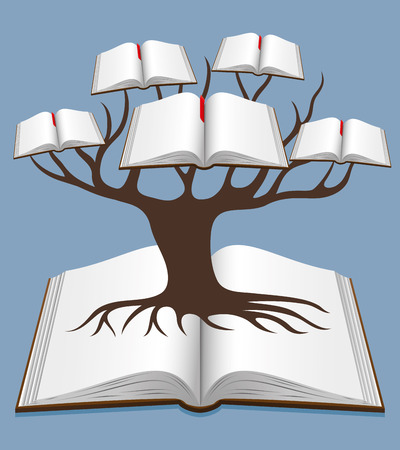 knowledge tree: Tree of knowledge. Illustration