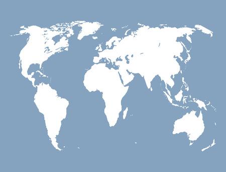 cartina del mondo: Mappa del mondo. Vettoriali