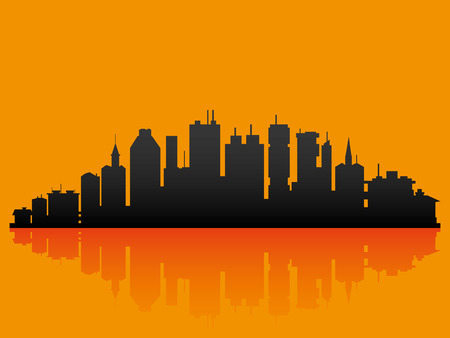 City. 向量圖像