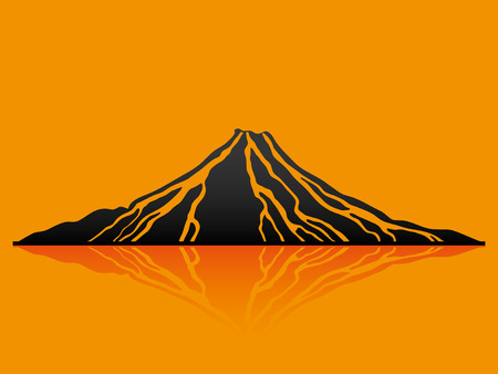 Volcano. Vector