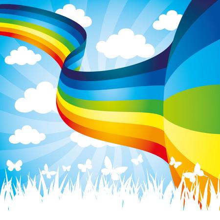 虹。  イラスト・ベクター素材
