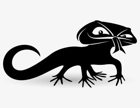 Lizard. Vector