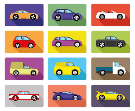 roadster: Car icons.