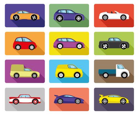 toys: Car icons.