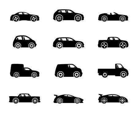 carro caricatura: Iconos del coche.