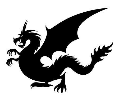 celtic symbol: Dragon sign. Illustration