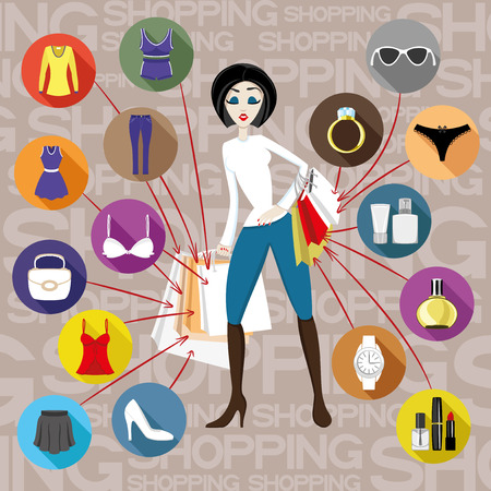 Shopping. Vector