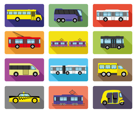 Public transport. Vector