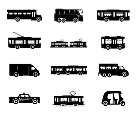 school transportation: Transporte público. Vectores