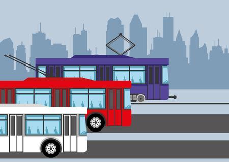 transporte: Transporte público. Vectores