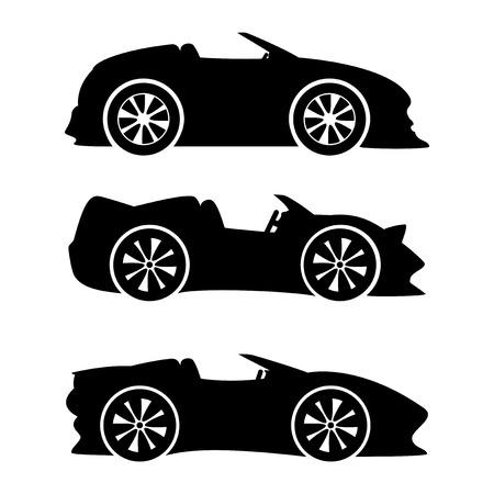miles: Car signs. Illustration
