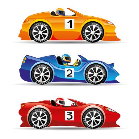 Racing cars.  イラスト・ベクター素材
