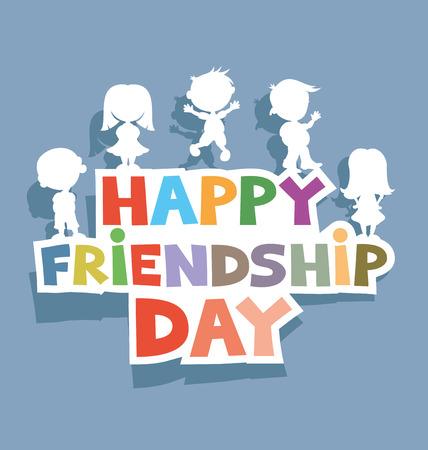 amistad: Feliz día de la amistad.