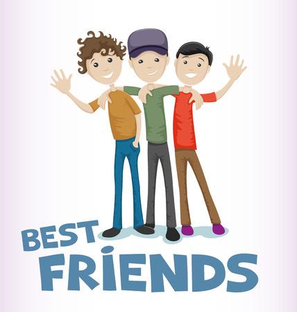 amicizia: Amici festeggiare Friendship Day.