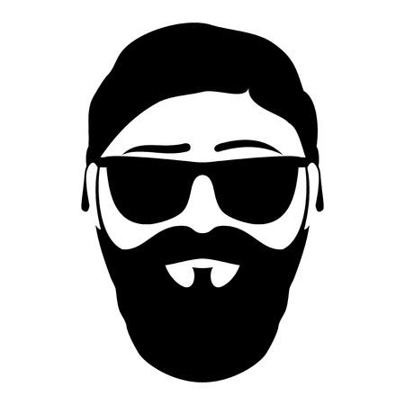 bearded man: Bearded man. Illustration