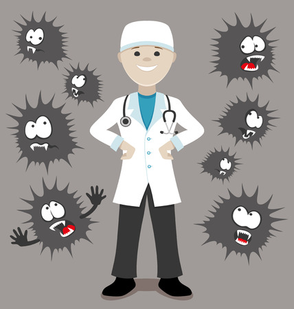 Doctor won viruses.