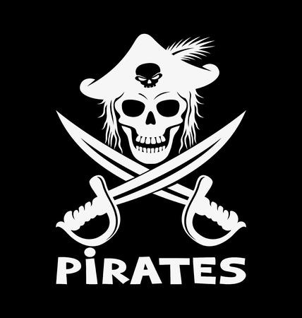 vector skull danger sign: Pirates.