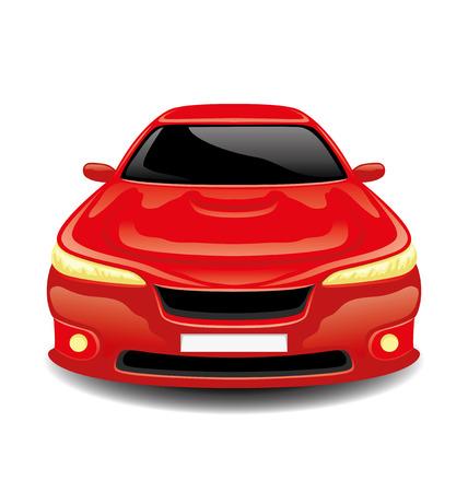 carritos de juguete: Carro rojo. Vectores
