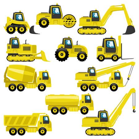 Tractors and trucks.
