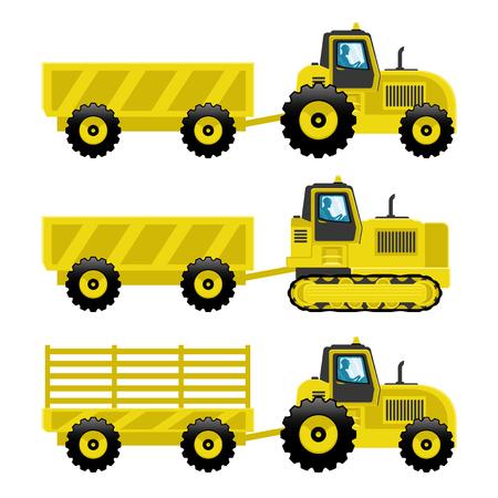hydraulic platform: Tractors.