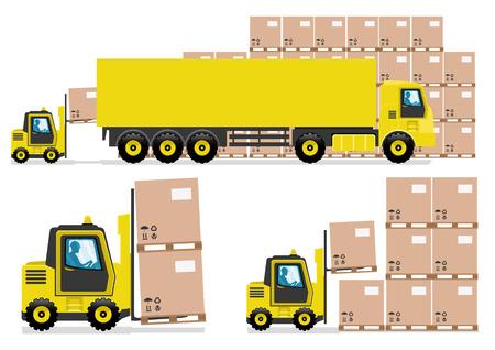 lading: Trucking industry. Illustration