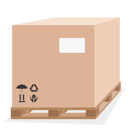 lading: Box on a pallet.