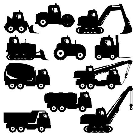 Trucks and tractors. 向量圖像
