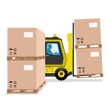 Forklift. Illustration