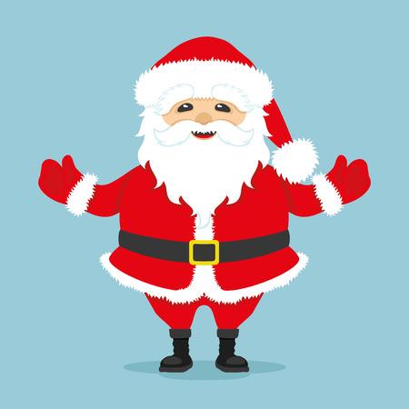 santa claus greeting: Santa Claus. Illustration