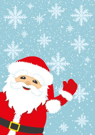 classic santa: Santa Claus background with space for text.