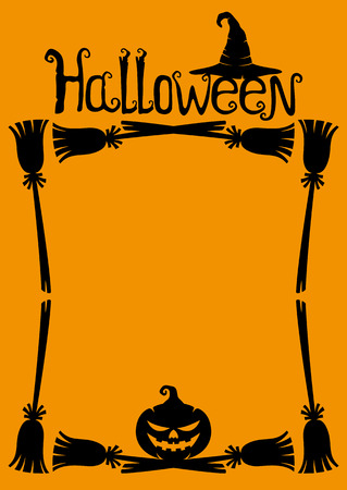 holiday invitation: Halloween background with space for text. Illustration