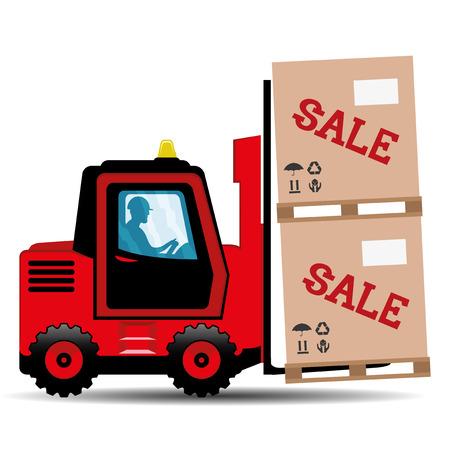 lading: Forklift. Illustration