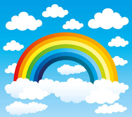 rainbow print: Rainbow. Illustration