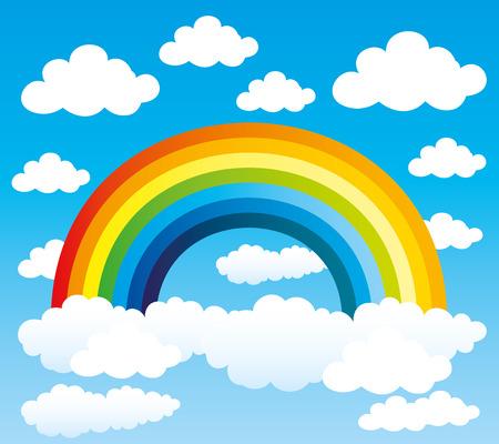 Rainbow. Illustration