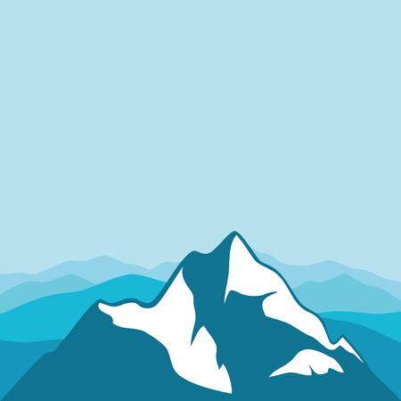 Le sommet de la montagne. Vecteurs