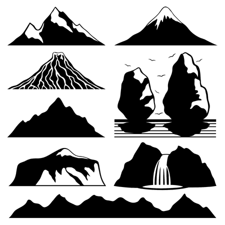 Berg pictogrammen.