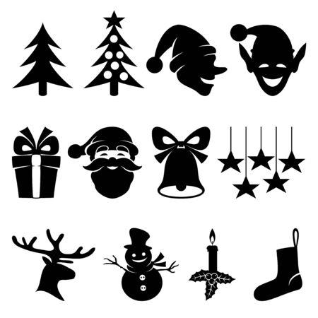 navidad: Navidad iconos. Vectores