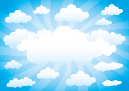 clouds sky: Clouds on blue sky.
