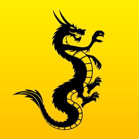 dragon tattoo: dragon  Illustration