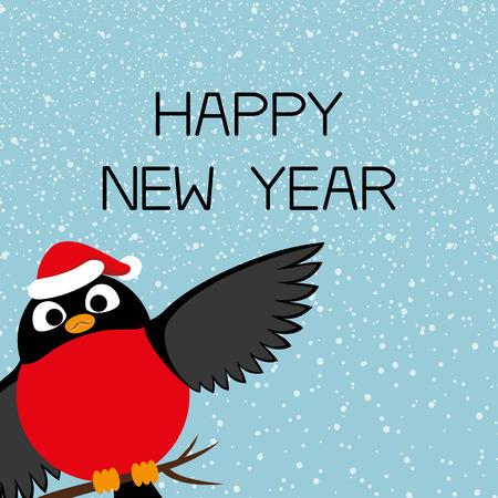 bullfinch: Bullfinch and Happy New Year.
