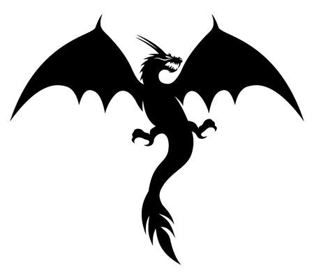 keltische muster: Drache