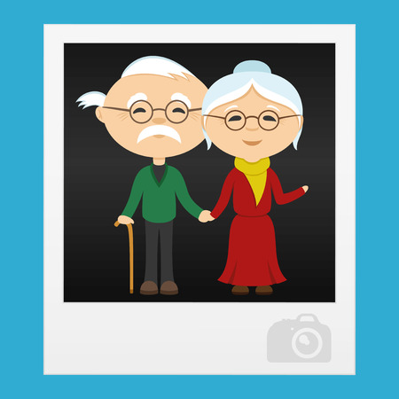 elderly couple: Happy elderly couple in the photo.