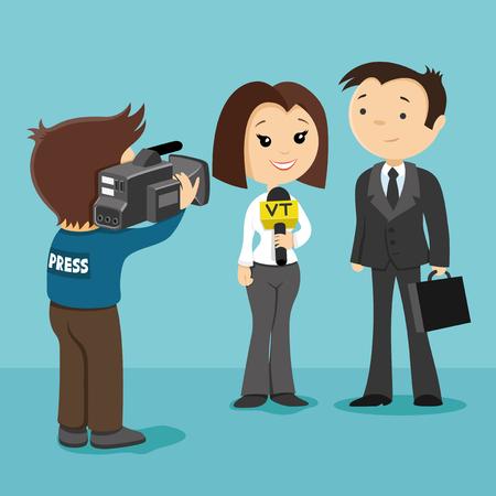 report icon: TV report. Illustration