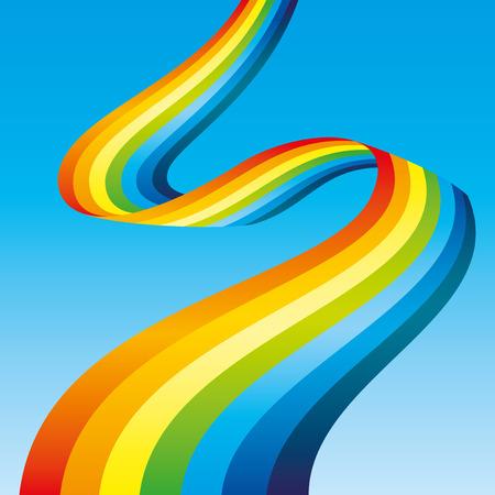 rainbow sky: Rainbow in the blue sky Illustration