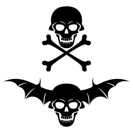 danger skull: Skull and bones.