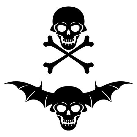 skull and crossbones: Skull and bones.