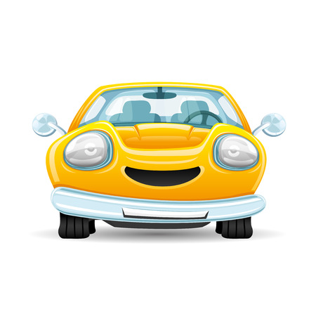 yellow car: Yellow car.