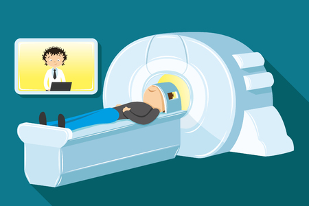 magnetic resonance imaging: magnetic resonance imaging Illustration
