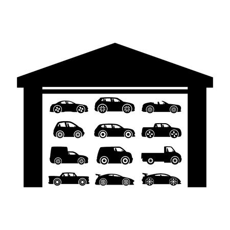 garage: Garage. Illustration